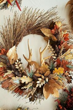 Hello Fall! I love autumnal wreaths... Michelle - Blog.  Repinned by: http://pinterest.com/pin/353673376978504837/?source_app=android