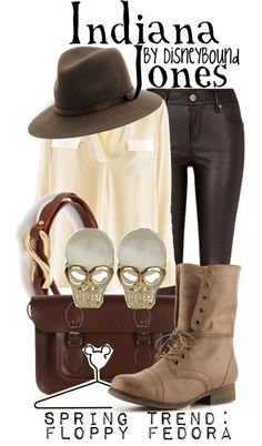 """Indiana Jones"" by lalakay Disneybound Disney Themed Outfits, Disneyland Outfits, Disney Bound Outfits, Disney Dresses, Fandom Fashion, Geek Fashion, Disney Fashion, Jones Fashion, Indiana Jones"