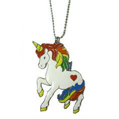 Looking for a fun and colorful fashion accessory? The magical unicorn has come to rescue you! A simple but lovely necklace that adds great...