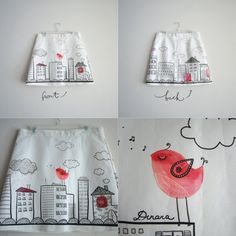 illustated skirt