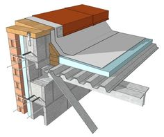 details Free: 12 Common Construction Details Fully Modeled in SketchUp — Architizer Free: 12 Common Construction Details Fully Modeled in SketchUp - Architizer Piscine Diy, Roof Detail, Roof Structure, Metal Buildings, Roof Design, Metal Roof, Metal Deck, Architectural Elements, Cladding