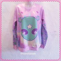 Reba the alien Sweater Sweater Kawaii Sweater by kawaiigoods