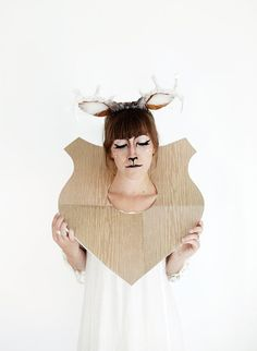 Taxidermy Deer - Cool Halloween Makeup | 25 Looks That Are Actually Easy, see more at http://diyready.com/cool-halloween-makeup-25-looks-that-are-actually-easy