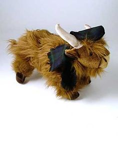 'Thistle' the Highland Cow by Scotweb Tartan Mill