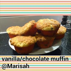Vanilla/chocolate muffin