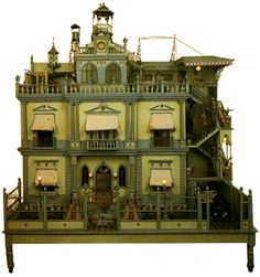 Vintage Mexican dollhouse.  Has French influence.