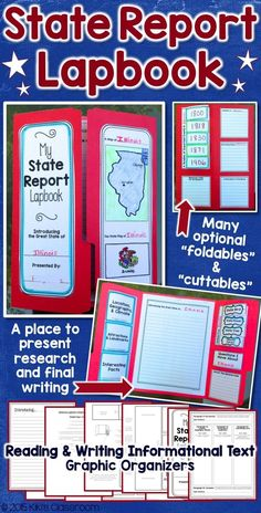State Reports • State Research • Informational Writing • Graphic Organizers • Great little package for kids' research and writing!