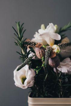 White Petal Flower on a White Ceramic Flower Vase