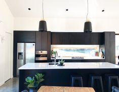 Need a Quality Builder for a New Home or Renovation in Queenstown? To build the home you've been dreaming of contact Ferguson Builders. Black Kitchens, Home Kitchens, Kitchen Utensils Store, Black Barn, Wooden Windows, Residential Interior Design, Black Cabinets, Small Appliances, Kitchen And Bath