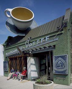 Unique coffee shop in Milwaukee, Wisconsin.