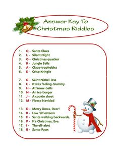 Christmas Puzzle Game DIY Holiday Party Game Printable Christmas Game DIY Game for Holiday Xmas Game Idea Kid Game Printables 4 Less Xmas Games, Printable Christmas Games, Holiday Party Games, Games For Kids, Holiday Parties, Christmas Activities, Christmas Riddles For Kids, Christmas Worksheets, Holiday Ideas