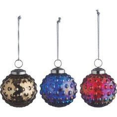 Habitat Orb Set Of 3 Iridescent Glass Baubles at Homebase -- Be inspired and make your house a home. Buy now.