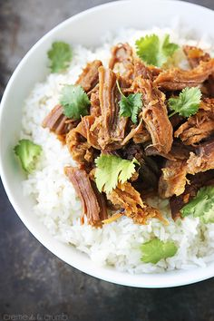 Cafe Rio Sweet Pork {Copycat} - Sweet shredded pork made in the slow cooker, inspired by the popular Cafe Rio restaurant!