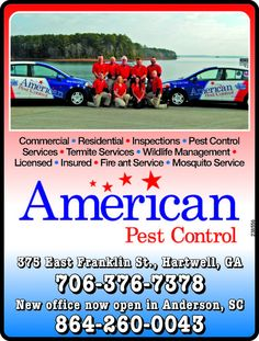 • Commercial • Residential • Inspections • Pest Control  • Services • Termite Services • W... | American Pest Control - Anderson, SC #georgia #HartwellGA #shoplocal #localGA