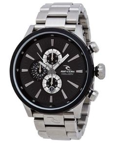 8db621f298f Rip Curl Recon XL CHRONO A2833-BLK Silver Black Analog Quartz Men s Watch