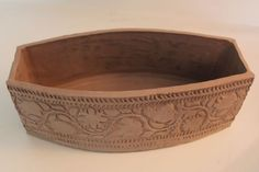 pottery slab patterns   Decorated Slab Box - Perfect for your Oil & Vinegar, Salet etc. on the ...