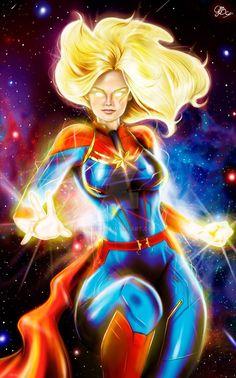 Captain Marvel by GiBfic on DeviantArt Ms Marvel, Captain Marvel, Marvel Comics, Marvel Heroines, Marvel Characters, Fictional Characters, Marvel Universe, Superhero Room, Female Hero