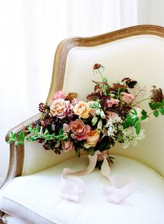 Peach, dusty pink, and burgundy bridal bouquet Burgundy Wedding Flowers, Burgundy Bouquet, Winter Wedding Flowers, Bridal Flowers, Floral Wedding, Fall Bouquets, Fall Wedding Bouquets, Bride Bouquets, Floral Bouquets