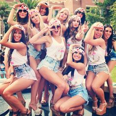 Outfits, bachelorette party themes, bachlorette party, frat party themes, b Bachelorette Outfits, Bachelorette Party Themes, Bachlorette Party, Bachelorette Weekend, Frat Party Themes, Frat Parties, Sorority Party, Sorority Life, Sorority Recruitment Outfits