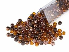 Artbeads Caramel Brownie Designer Blend, TOHO 8/0 Round Seed Beads