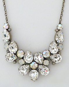 Sorrelli Crystal & Opal Statement Necklace