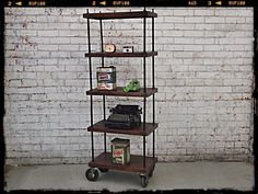 Holy Funk - Industrial Wooden Bookcase (http://www.holyfunk.com.au/sold/industrial-wooden-bookcase/)
