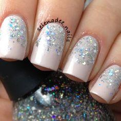 .@nailfashionfix | @selenadee_nails glitter gradient nails #glitter #glitternails #glittergradie... | Webstagram - the best Instagram viewer