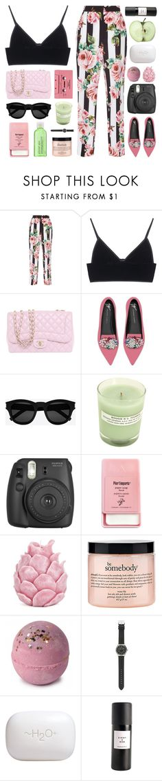 """i wanna live a life from a new perspective"" by megan-vanwinkle on Polyvore featuring Dolce&Gabbana, T By Alexander Wang, Chanel, Giuseppe Zanotti, Yves Saint Laurent, A.P.C., Fujifilm, Pier 1 Imports, Zara Home and philosophy"