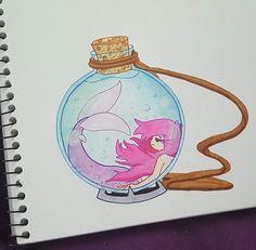 Mermaid in a jar