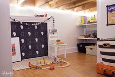 The Makerista: Making a Home: Turning a Storage Area into a Kid's Space