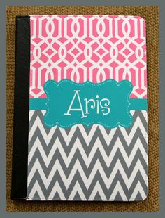 Kindle Fire HD Case Nook Color Notebook Case by ChicMonogram