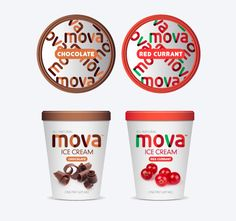 Mova Ice Cream |  Design of Luko Designs | United States