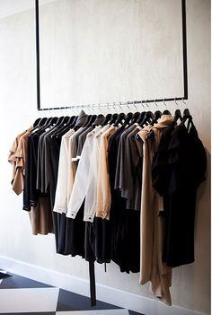 Home - Wardrobe Kleiderstange passend zu meiner farblich abgestimmten Garderobe When trying to choos Ikea Clothes Rack, Wooden Clothes Rack, Hanging Clothes Racks, Clothes Drying Racks, Clothes Rail, Clothes Storage, Hanging Racks, Modern Wardrobe, Wardrobe Design