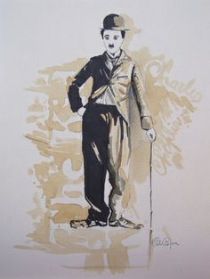 "Saatchi Art Artist Carlo Capone; Drawing, ""Charlie Chaplin"" #art"