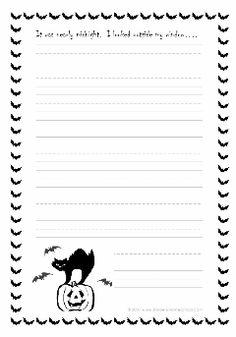 grade 5 halloween worksheet story starter - 3rd Grade Halloween Worksheets