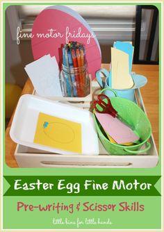 Easter Egg Fine Motor Activities Tracing