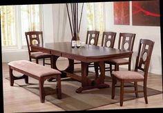 Shop Naldo Dark Walnut Wood Fabric Dinning Room Sets with great price, The Classy Home Furniture has the best selection of to choose from Dinning Room Sets, Dining Table, Dark Walnut, Walnut Wood, White Oak, Home Furniture, Bench, Fabric, Classy
