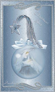 Рождественская звезда Анимационные блестящие картинки GIF