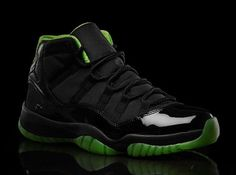 Air Jordan XI Black/Neon Green Collection