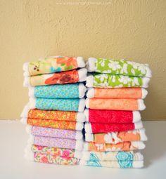 DIY Burp cloths, super easy to do!