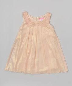 Look what I found on #zulily! Champagne Pleated Dress - Toddler & Girls #zulilyfinds