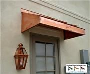 The Copper Wedge Awning Copper Awning, Metal Awning, House Awnings, Copper House, House Trim, House Doors, Metallic Paint, Painting Metal, Gallery