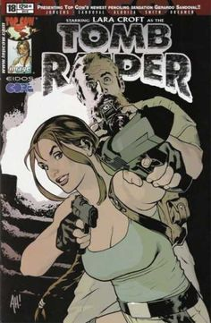 Tomb Raider Comic Book Cover Partners Challenge - Fighting Partners - Two Bang - Blow Them Away - Guns And War