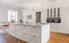 Kitchen Reno, New Kitchen, Kitchen Remodel, White Ikea Kitchen, Timeless Kitchen, Home Kitchens, Ikea Kitchens, Interior Design Inspiration, Interior Design Living Room