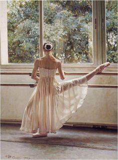 Unindo as artes... Ballet e pintura !
