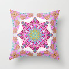 Mix  Spring Love 03 Throw Pillow by Karma Cases - $20.00