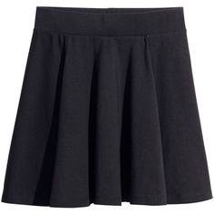 H&M Bell-shaped skirt (16 CAD) ❤ liked on Polyvore featuring skirts, bottoms, h&m, black, short skirts, h&m skirts, short black skirt and black knee length skirt