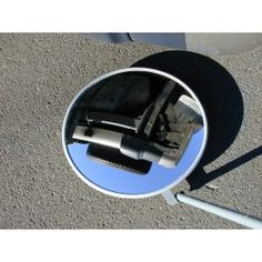 Portable security mirror ideal for inspection of machinery, drains, pipes, vehicles, bomb detection, security checkpoints, customs and excise, police and military. Mirror face thickness. Ideal for inspecting difficult or dangerous areas on plant / machinery. Tough and durable, Vacuum metallised coating - gives the brightest sharpest reflection! Folds for easy storage. Optional torch mounting kit - illuminates area to be observed