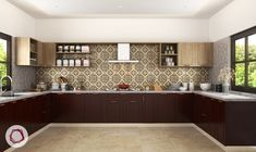 U Shape Modular Kitchen Table The U-shaped kitchen is probably the most popular kitchen layout and p Kitchen Room Design, Home Decor Kitchen, Interior Design Kitchen, Kitchen Ideas, Kitchen Dinning, Finish Kitchen Cabinets, Modern Kitchen Cabinets, Kitchen Layouts, Modern Kitchens