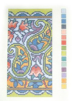 Paisley Beaded Needlepoint Case Kit by Ann Benson